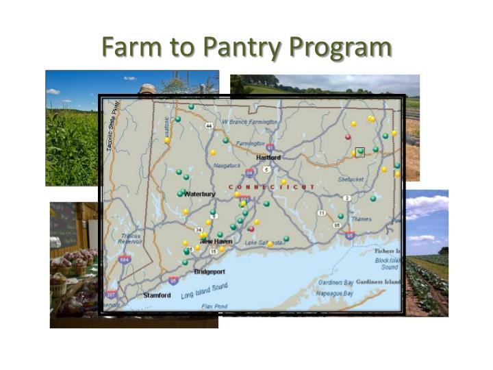Farm to Pantry Program