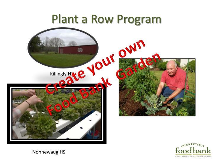 Plant a Row Program