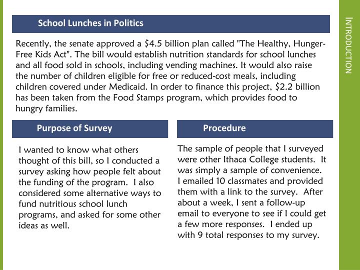School Lunches in Politics