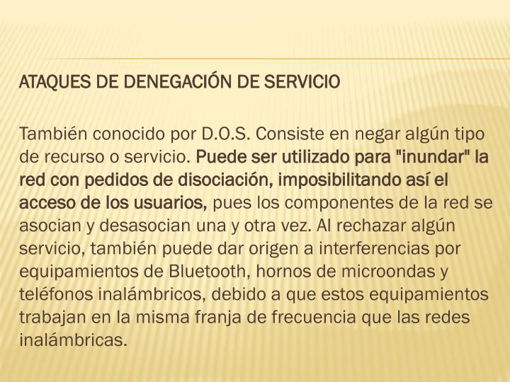 ATAQUES DE DENEGACIÓN DE SERVICIO