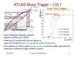 atlas muon trigger lvl1