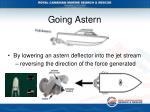going astern