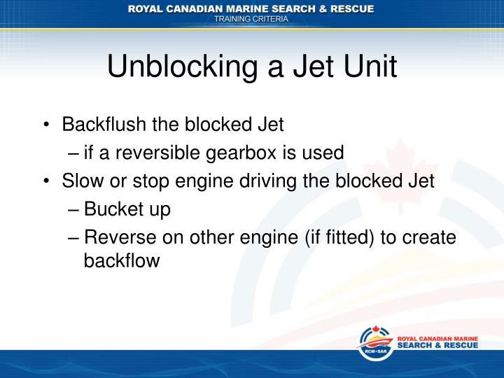 Unblocking a Jet Unit