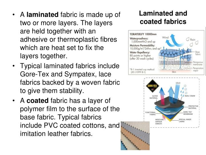 Laminated and coated fabrics