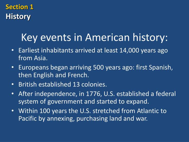 key events in american history