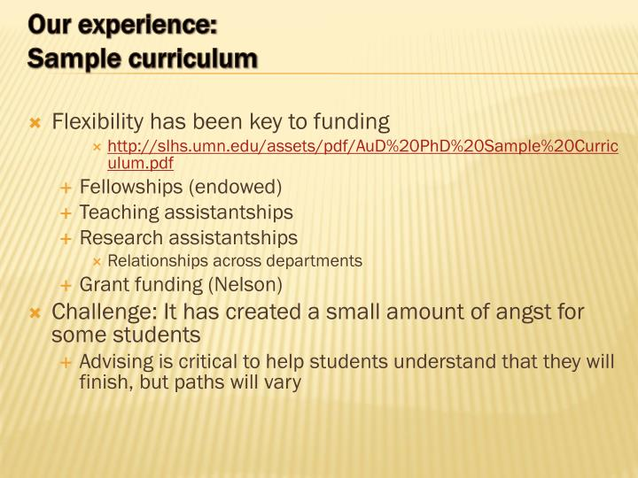 Flexibility has been key to funding