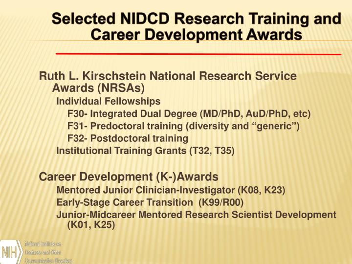 Selected NIDCD