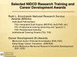 selected nidcd research training and career development awards