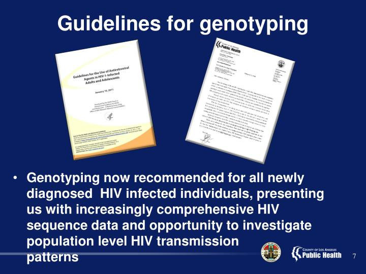 Guidelines for genotyping