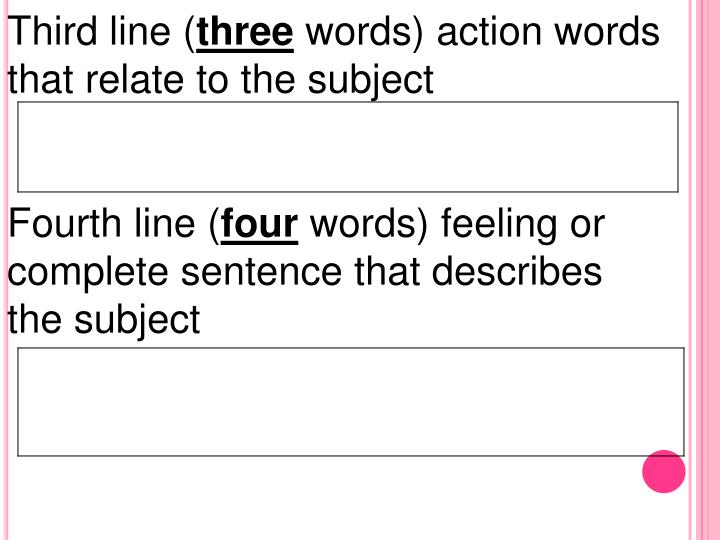 Third line (