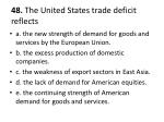 48 the united states trade deficit reflects