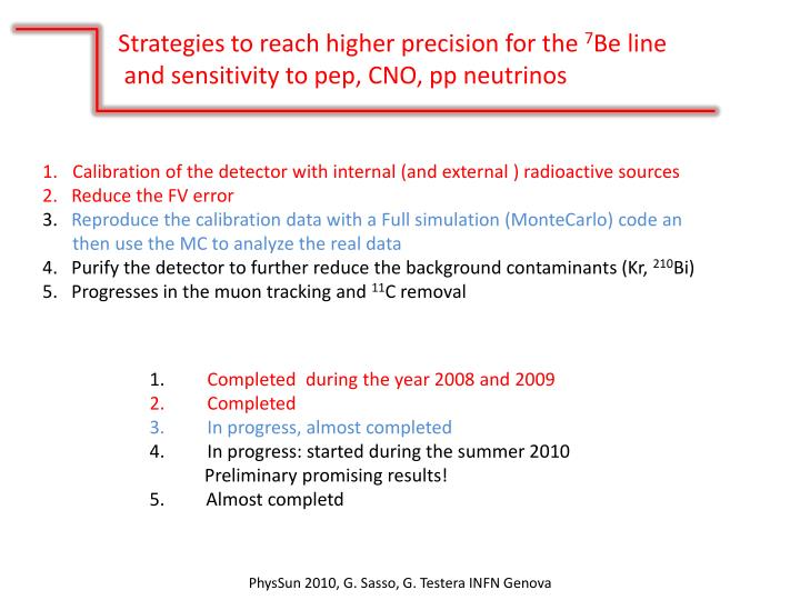Strategies to reach higher precision for the