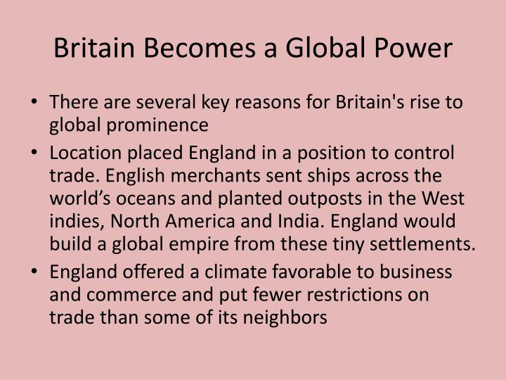 Britain Becomes a Global Power