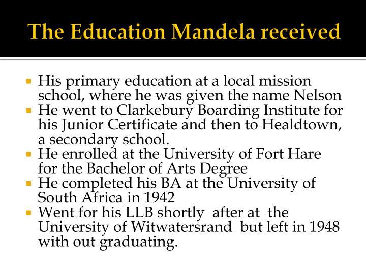 The Education Mandela received