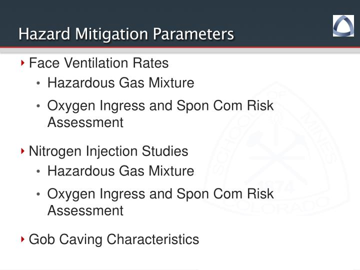 Hazard Mitigation Parameters