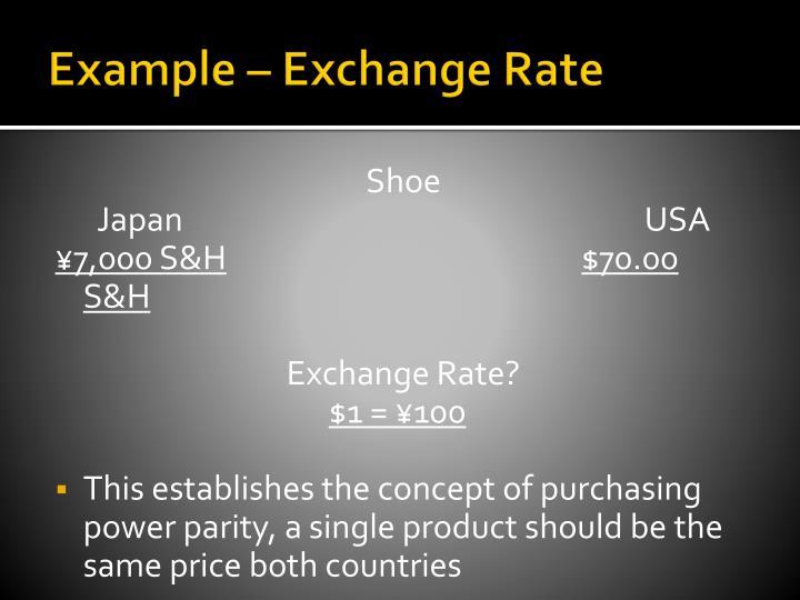 Example – Exchange Rate