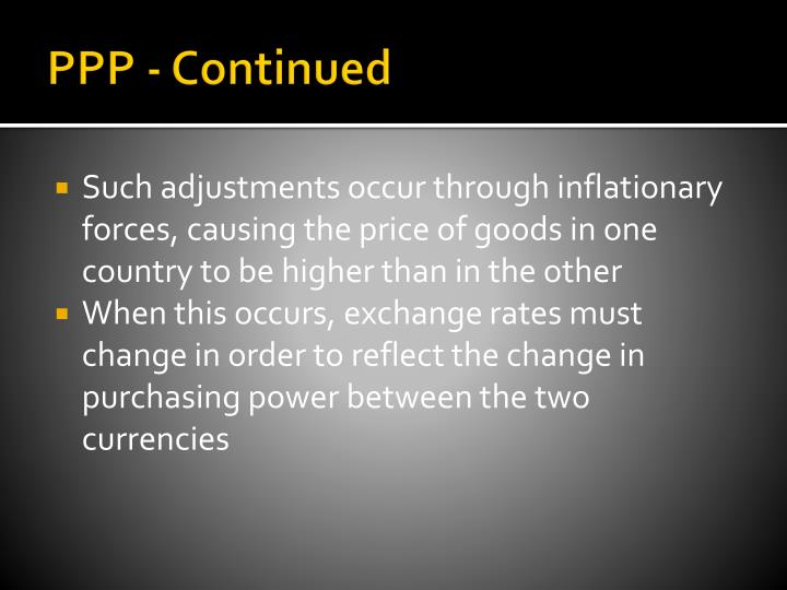 PPP - Continued