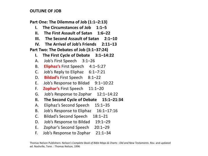 OUTLINE OF JOB