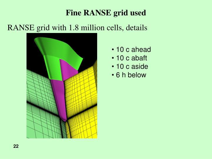 Fine RANSE grid used