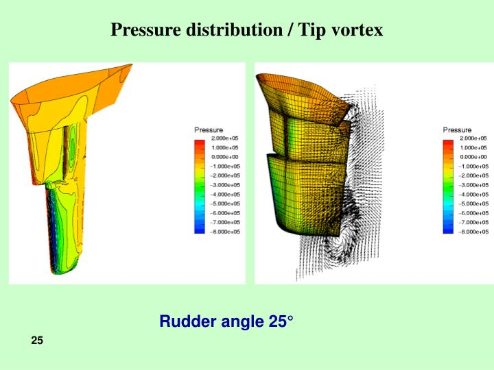 Pressure distribution / Tip vortex