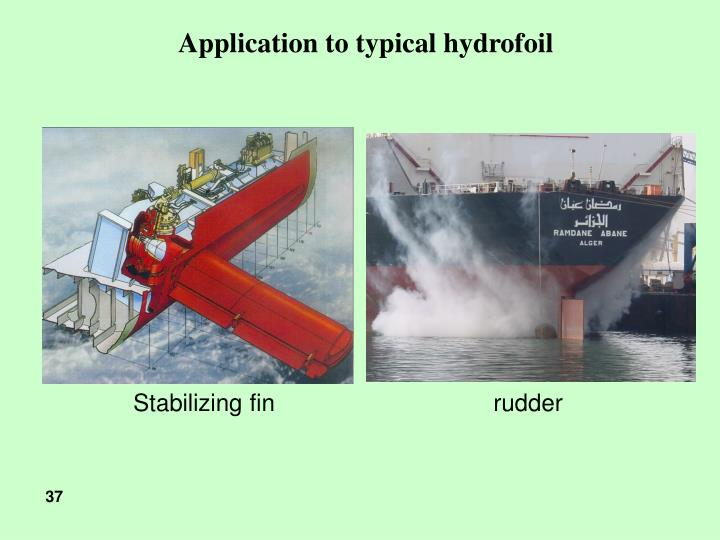 Application to typical hydrofoil