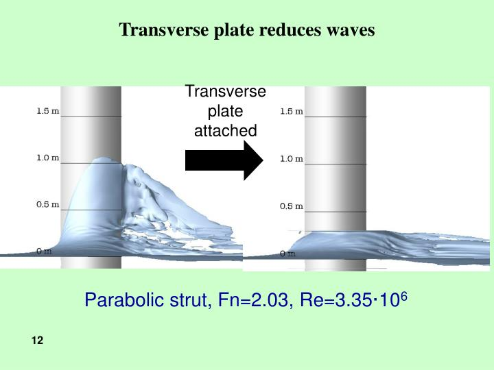 Transverse plate reduces waves