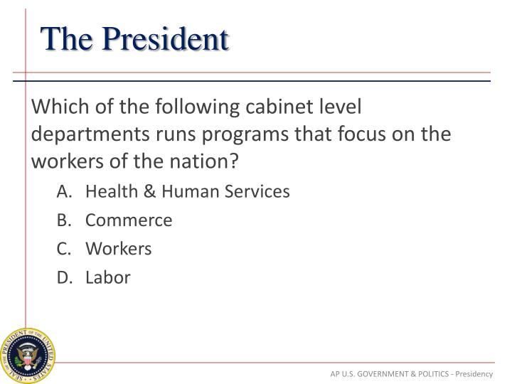 Which of the following cabinet level departments runs programs that focus on the workers of the nation?