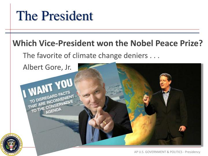Which Vice-President won the Nobel Peace Prize?