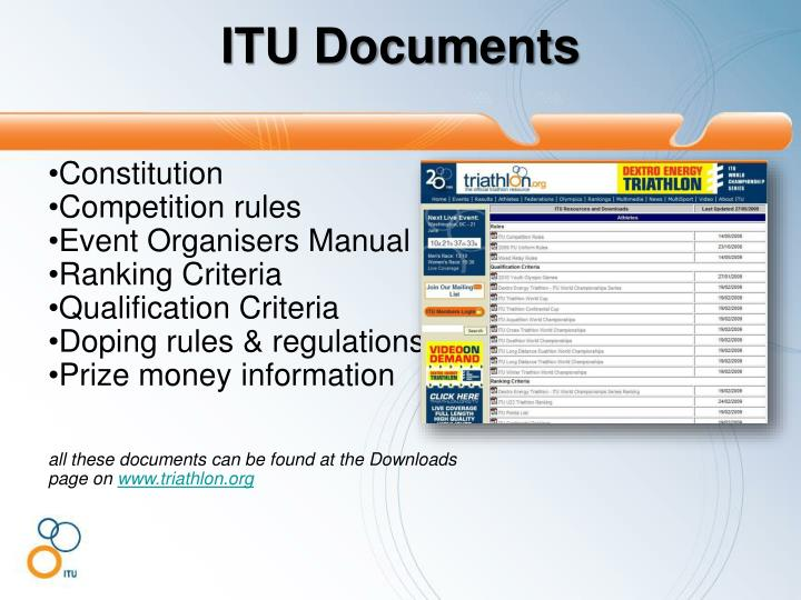 ITU Documents