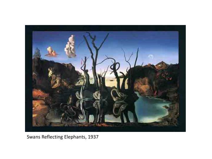 Swans Reflecting Elephants, 1937