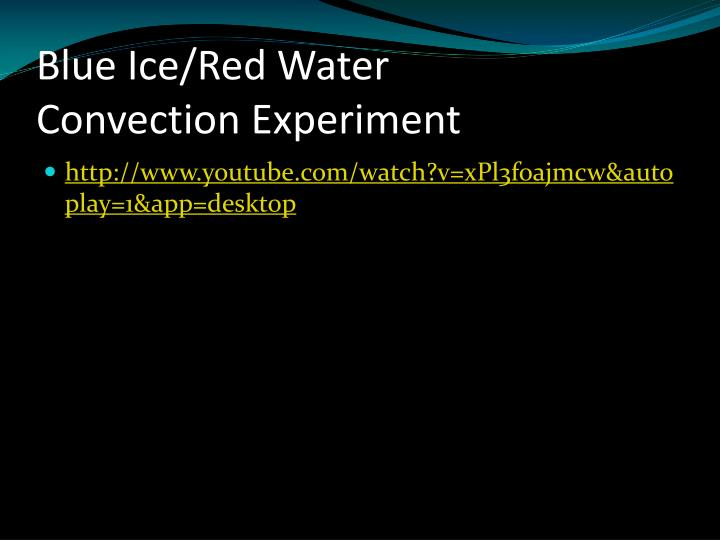 Blue Ice/Red Water