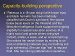 capacity building perspective