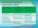universally designed instruction why1