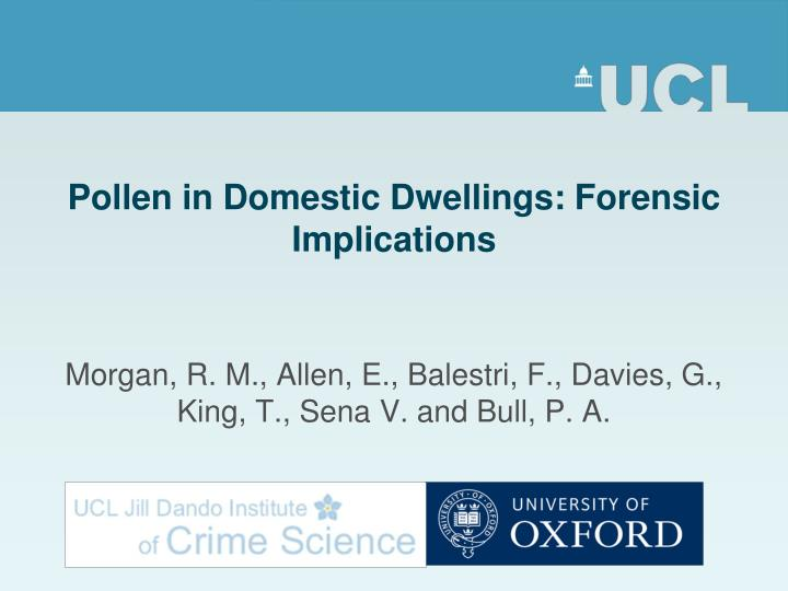 pollen in domestic dwellings forensic implications