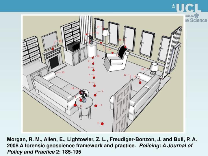 Morgan, R. M., Allen, E., Lightowler, Z. L., Freudiger-Bonzon, J. and Bull, P. A. 2008 A forensic geoscience framework and practice.