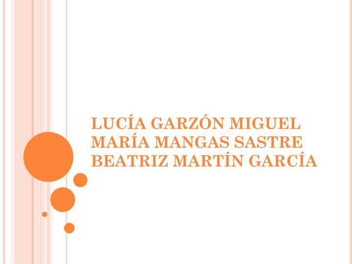 LUCÍA GARZÓN MIGUEL