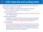 lhc ramp rate and cycling limits
