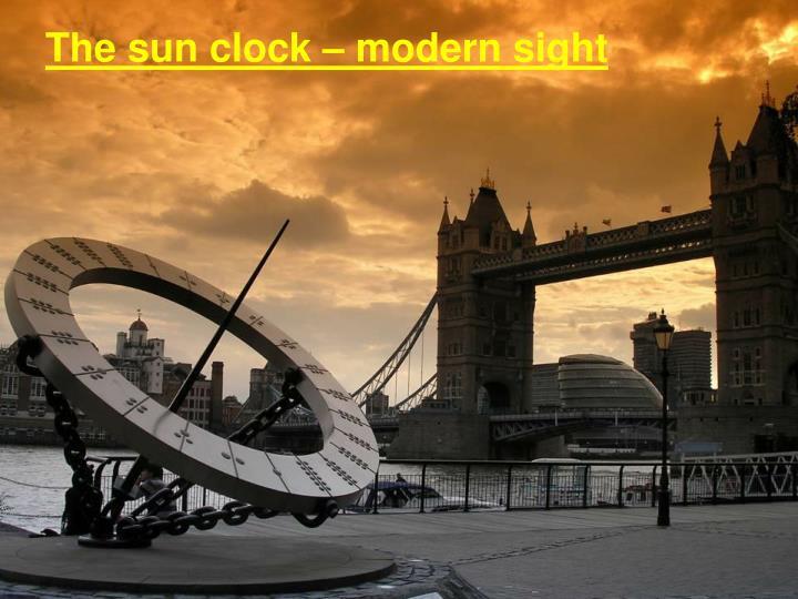 The sun clock – modern sight