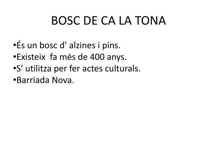 BOSC DE CA LA TONA