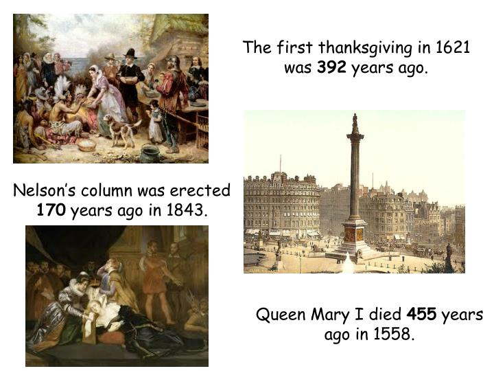 The first thanksgiving in 1621 was