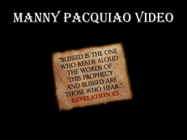 Manny pacquiao video