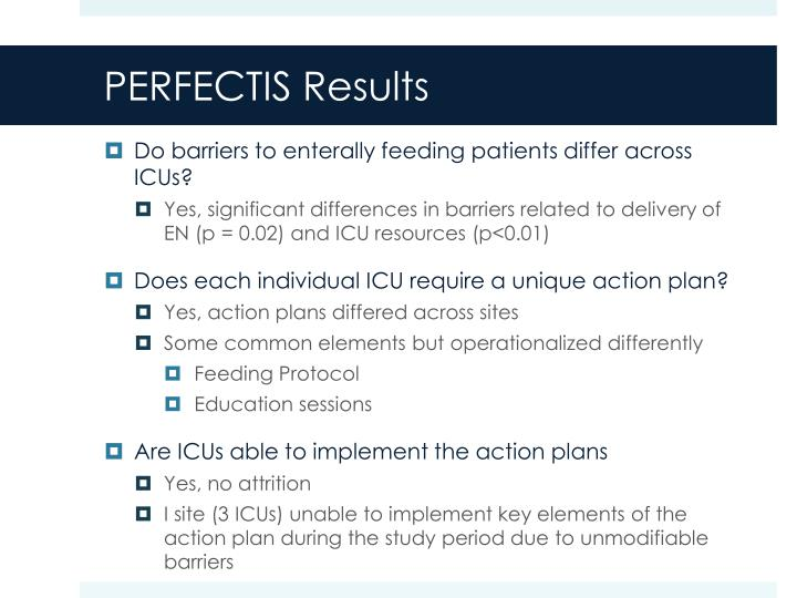 PERFECTIS Results