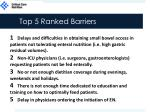 top 5 ranked barriers