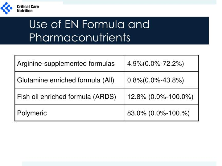 Use of EN Formula and