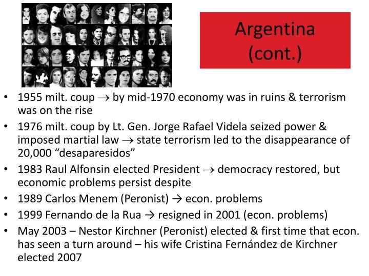 1955 milt. coup