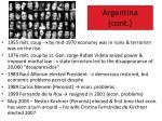 argentina cont