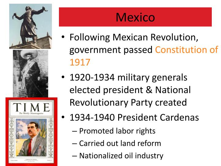 Following Mexican Revolution, government passed