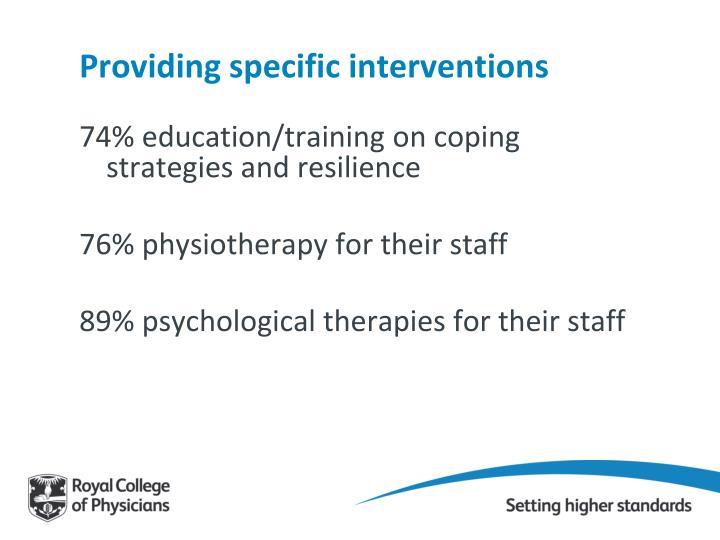 Providing specific interventions