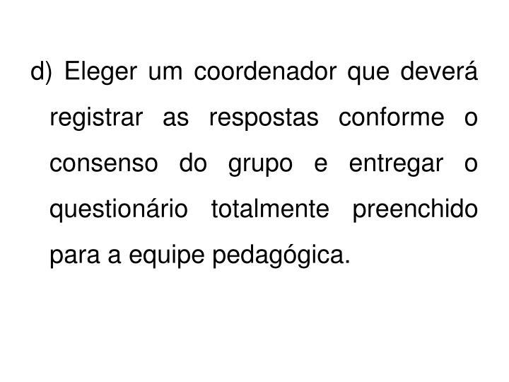 d) Eleger