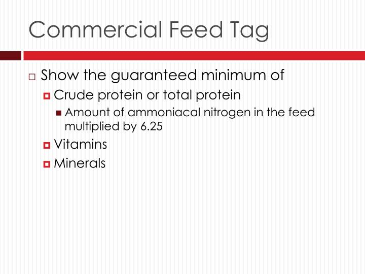 Commercial Feed Tag